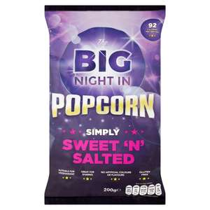 The Big Night In Sweet 'N' Salted Popcorn 200g ONLY £1.00 @ Iceland