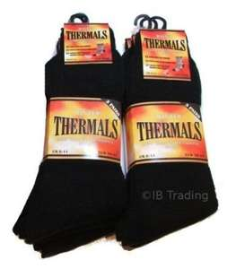 6 Mens Thermal Winter Socks - £4.98 @ Dispatched from and sold by School Wear United & Ayra® Mens Wear.