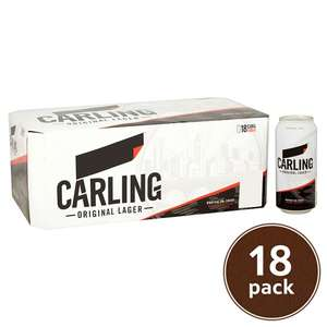 Carling Lager 18 x 440ml £10 @ Tesco
