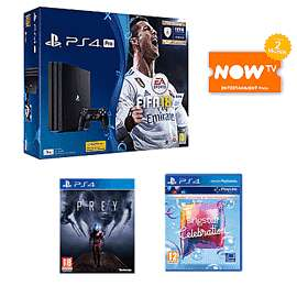 PlayStation Pro 1TB with FIFA 18 + Singstar Celebrations +  Prey +  NOW TV 2 Months Entertainment Pass £299.99 @ Game