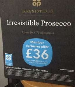 Co-op Member Offer 6 bottles of prosecco - £36 instore
