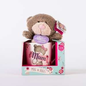 Hugs Mum Mug & Plush Set A brew and a cuddle! Price reduced from 4.99£ to 2.99£ - £5.98 Delivery @ Card Factory