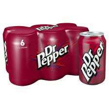Dr Pepper Regular 6 X 330Ml Pack Half price £1.77 @ Tesco