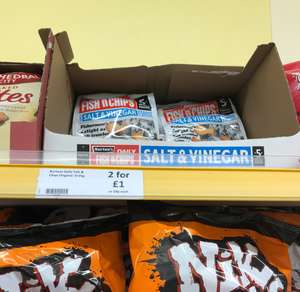 Burtons fish and chips 59p or 2 for £1 instore @ Heron