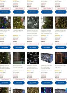 All Christmas Lights Reduced By Up to 50% Off @ Tesco Direct (Free Click & Collect)