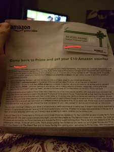 Sign back up to Amazon Prime and get a £10 voucher