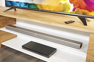 LG SH7 Wi-Fi & Bluetooth Sound Bar With Wireless Subwoofer and Adaptive Sound Control, Silver £199.99 @ Amazon