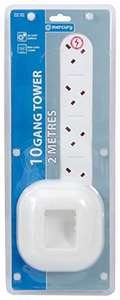 Mercury skytronics 10 gang 2m extension lead £8.99 Prime Sold by In21 Direct and Fulfilled by Amazon.