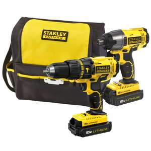 STANLEY 1.3AH LI-ION DRILL & DRIVER TWIN PACK 2 BATTERIES £100 @ B&Q