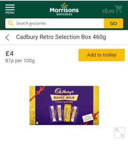 Cadbury Retro Selection Box 460g £4 at Morrison's