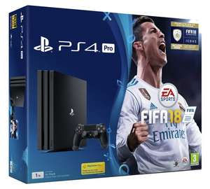 PS4 Pro Black 1TB + FIFA 18 + Yooka Laylee or Fallout 4 + £10 Voucher £299.99 // PS4 Pro 1TB Console - White + GT Sport £299.99 @ Argos