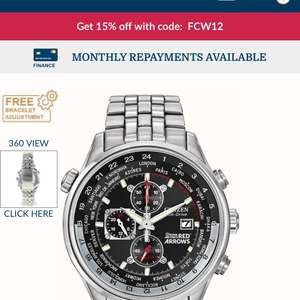 Citizen Red Arrows Chronograph watch £191.26 w/code @ First Class Watches