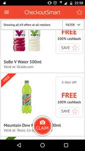 Free via checkoutsmart superthread advent give aways! -  discounts & SoBe V water from Tesco