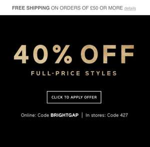 40% off Full Price Items w/code @ Gap till 5/12