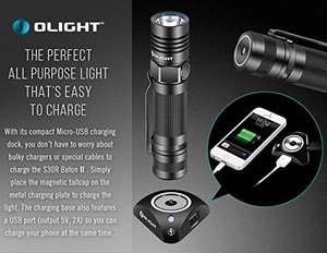 Olight® S30R II/S30R III Rechargeable LED Flashlight Powerful EDC Torch Light with XM-L2 LED USB Charging 1x18650 Battery included(S30R Baton Series) £42.65 Sold by Olight® Direct UK and Fulfilled by Amazon