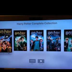 Harry Potter Complete Collection in 4K Dolby Vision £39.99 on iTunes