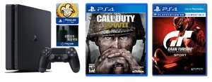 Sony PS4 500GB console with Call of Duty: WWII, Gran Turismo Sport , Hidden Agenda and That's You - £199.97 - eBuyer