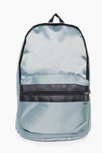 Silver Nylon Backpack With Contrast Trim for £5 plus free delivery with code (FREE)@ Boohoo