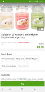 Large Jar Home Inspiration Yankee Candle now £8.50 + £1.99 delivery @ Groupon