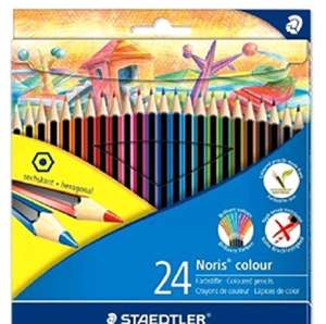 Staedtler 185 C24 Noris Colour Colouring Pencil - Assorted Colours £3.50 @ Amazon (Add On item)