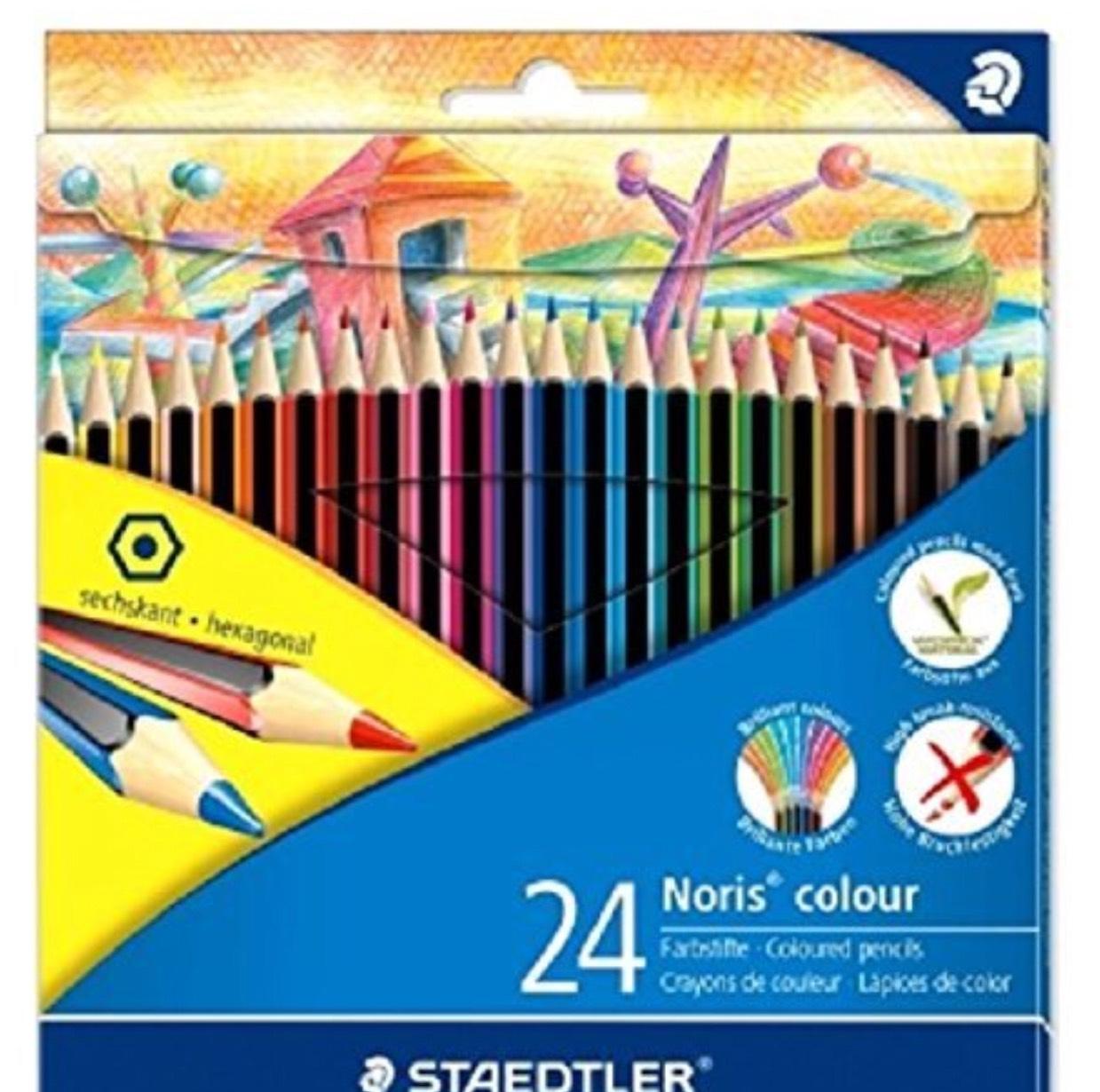 Staedtler 185 C24 Noris Colour Colouring Pencil - Assorted Colours £3.50 @ Amazon (Add On item)