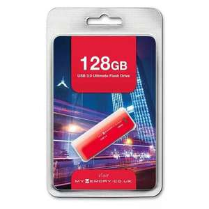 128GB USB 3.0 Flash Drive 25MB/s - Red £23.99 @ MyMemory