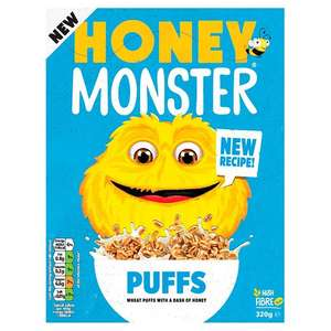 320g honey monster puffs £1 at poundland