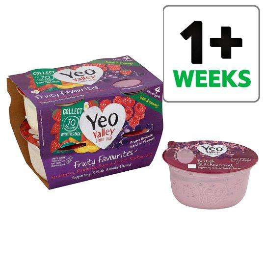 Yeo valley fruit favourites yogurts 4 pack £1.35 at Tesco