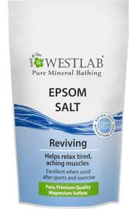 Westlab Pure Mineral Bathing Epsom Salt (1Kg) was £5.00 now £2.50 (Rollback Deal) @ Asda