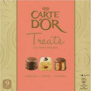 Carte D'Or Treats Ice Cream Pralines (9 x 20ml) was £3.89 now £2.00 (Rollback Deal) @ Asda