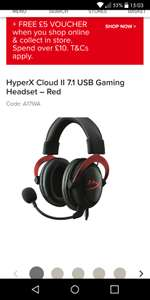 HYPERX CLOUD II 7.1 USB GAMING HEADSET + FREE £5 VOUCHER £71.91 @ Maplin