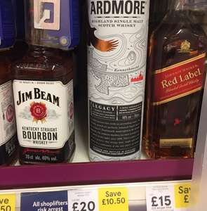 The Ardmore single malt whisky down to £20 from £30 Tesco and Waitrose