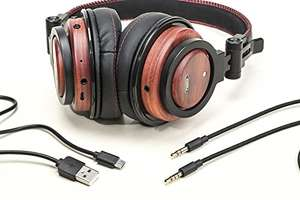 Wooden Headphones Bluetooth / wired  £23.99 @ Amazon - Sold by ADM-LC and Fulfilled by Amazon