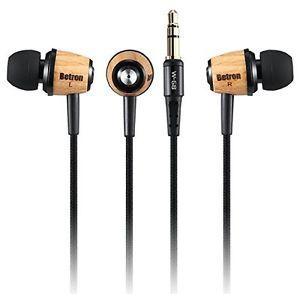Wooden earphones Betron £5.99 @ ebay