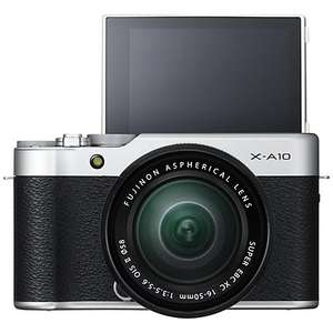 Fujifilm X-A10 Compact System Camera  XC 16-50mm OIS Lens with 3 Year Guarantee  £299.00  Johnlewis