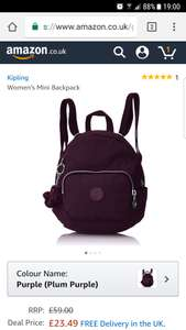 Kipling mini backpack @Amazon  £23.49