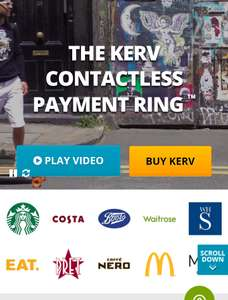 Kerv Ring - Contactless payment jewellery. ENDS MIDNIGHT 3RD DEC
