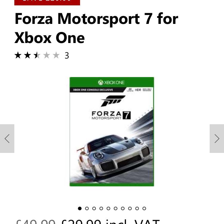 Forza 7 Motorsport £29.99 @ Microsoft