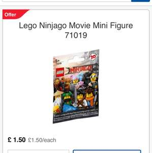 Lego Ninjago Mini Figure Half Price £1.50 Tesco (C&C)