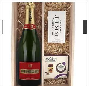 Piper-Heidsieck champagne, Burberry Brit rhythm and lily O'Brien chocolates was £109.99, now £44.99 @ Very
