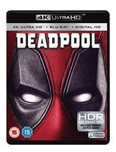 Deadpool 4K UHD Blu-ray + Blu-Ray + UV Copy - £15.99 - Amazon Prime / £17.98 non-Prime