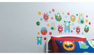 Monsters Wall Stickers £3.50 @ Asda (C&C)