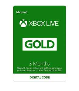Xbox Live 3 Month Gold Membership £8.99 @ Amazon