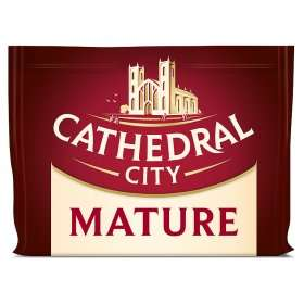 Cathedral City Mature Cheddar Cheese 350g  @ ASDA £2.00 (£5.71/kg)