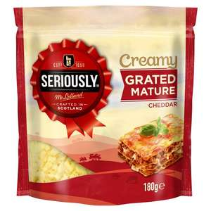 Seriously Strong Grated Cheddar 180g (£1) £5.56 per kilo@morrisons