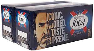 Kronenbourg 1664 Lager Beer Cans, 20 x 440 ml £14.90 Prime @ Amazon