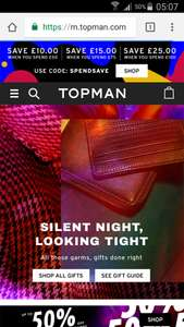 £25 off if you spend £100 at Topman +  £20 voucher