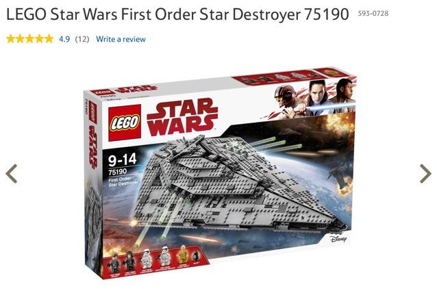Lego Star Wars 75190 - £84 @ Tesco