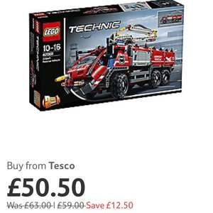 Lego Technic Airport Rescue 42068 £50.50 at Tesco plus 500 points