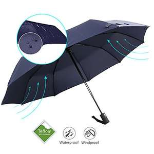 Umbrella - Bodyguard 10 Ribs Windproof Umbrella Teflon Coated - £11.19 (Prime) £16.04 (Non Prime)@ Sold by Bodyguard UK and Fulfilled by Amazon - lightning deal